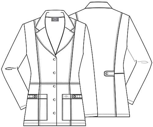 82400 Lab Coat Details