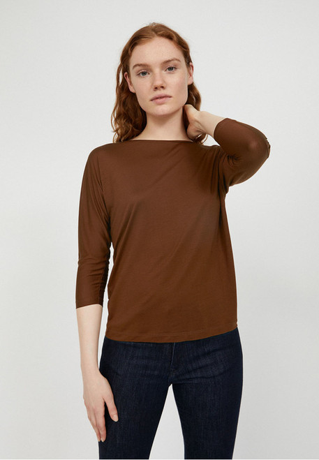 JAADY longsleeve cacao tencel duurzaam fair trade