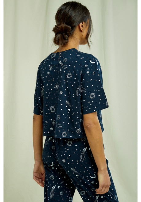 starlight cropped pyjama top