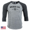 Command Raglan Tee 3/4S, Mod 9 (Grey/Black)