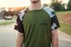 Raglan Camo, Moisture Wicking, Short Sleeve T (Green)