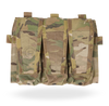 Attaches to front platebag (Standard or MBAV) of AVS™ to provide three M4 mag pouches.