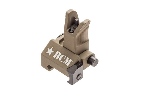 BCM® Folding Battle Sight - Front - M4 Type - (mfg by Troy Ind) - FLAT DARK EARTH
