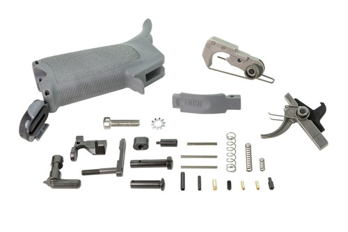 BCMGUNFIGHTER™ AR-15 Enhanced Lower Parts Kit - Wolf Gray