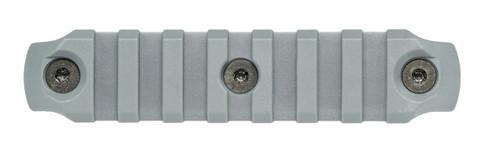 BCM® KeyMod™ 4 Inch Picatinny Rail Section, Nylon - Wolf Gray