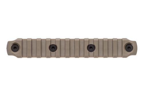 BCM® KeyMod™ 5.5 Inch Picatinny Rail Section, Nylon - Flat Dark Earth
