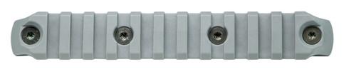 BCM® KeyMod™ 5.5 Inch Picatinny Rail Section, Nylon - Wolf Gray