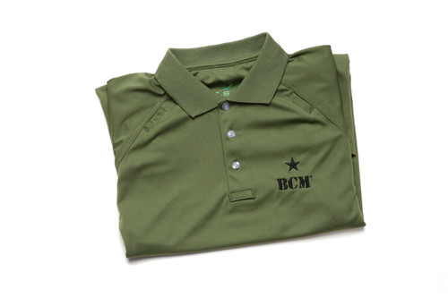 Tactical Polo, Moisture Wicking  (Green)