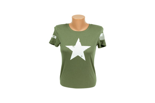 STAR T-Shirt, Short Sleeve (Green) WOMEN
