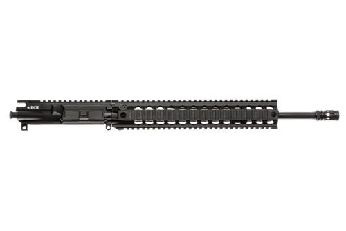 """BCM® Standard 16"""" Mid Length (ENHANCED Light Weight-*FLUTED*) Upper Receiver Group w/ QRF-12 Handguard"""