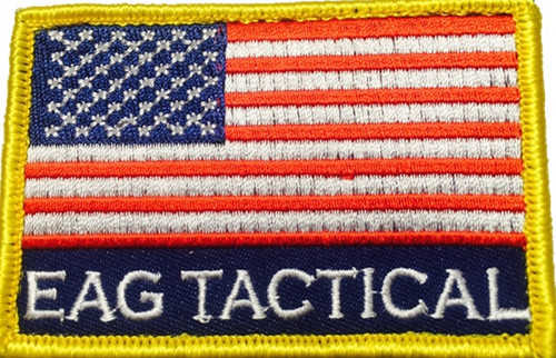 EAG TACTICAL, US Flag (Red White Blue w/ gold trim)