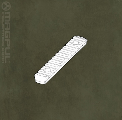Magpul MOE Polymer L5 Rail Section with 11 Slots