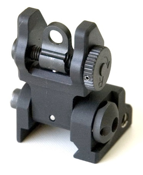PRI Rail Mounted Flip Up Rear Sight