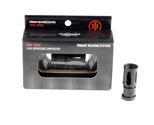 Primary Weapon Systems Mod 2 Triad Flash Suppressor, 1/2x28 threads, .223