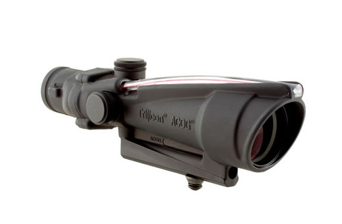 Trijicon TA11: ACOG 3.5x35 Scope, Dual Illuminated Red Donut BAC Reticle