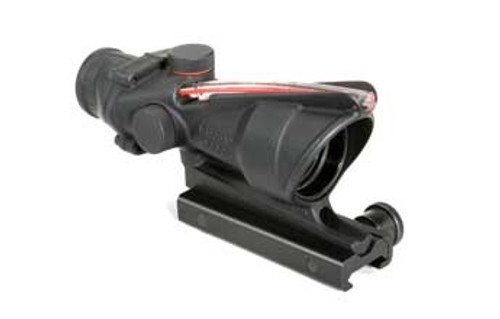 Trijicon TA31F ACOG 4x32 Scope with Red Chevron BAC Flattop Reticle – includes Flat Top Adapter