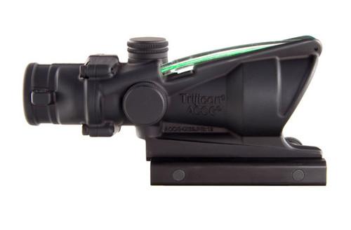 Trijicon TA31F-G ACOG 4x32 Scope with Green Chevron BAC Flattop Reticle – includes Flat Top Adapter