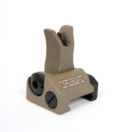 Troy Folding Battle Sight - Front - M4 Type - FLAT DARK EARTH