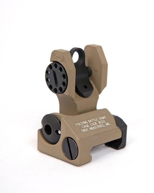 Troy Folding Battle Sight - REAR -(Flat Dark Earth)
