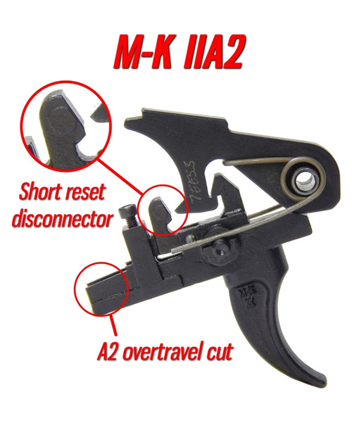 Milazzo-Krieger M-K IIA2 Two Stage Match Trigger (AR15) by Wisconsin Trigger Company