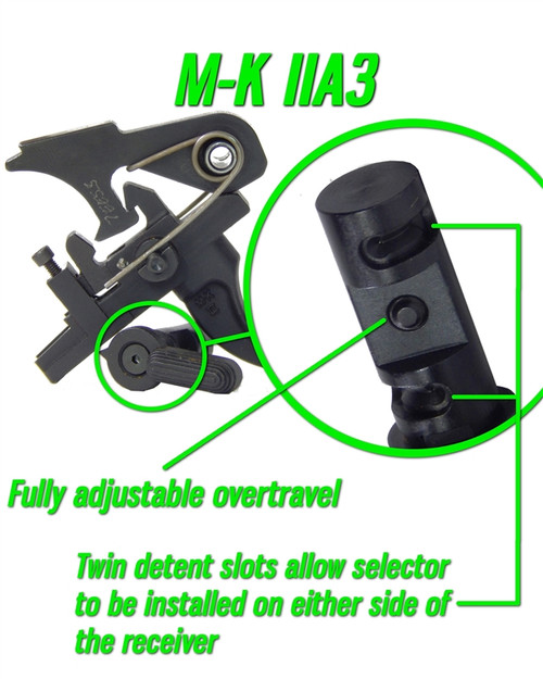 Milazzo-Krieger M-K IIA3 Two Stage Match Trigger (AR15) by Wisconsin Trigger Company