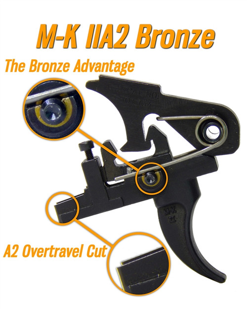 Milazzo-Krieger M-K II A2  Bronze  Two Stage Match Trigger (AR15) by Wisconsin Trigger Company