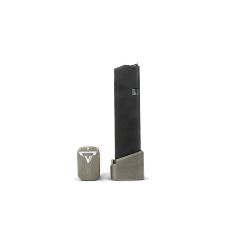 Base Pad For Glock 9/40 Full Size Magazines (+5/6, Titanium Gray)