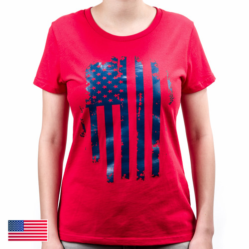 Patriot Women's Tee S/S, Mod 14 (Red/Blue)