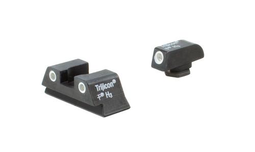 Trijicon Bright & Tough™ Night Sights - Glock Small Frames - White Outline/Green Tritium