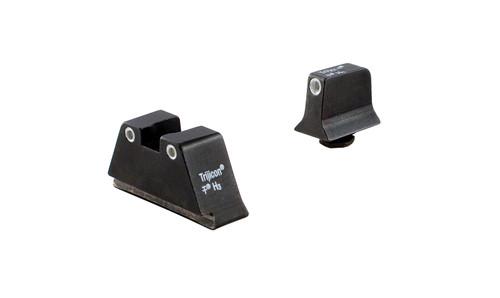 Trijicon Bright & Tough™ Suppressor Sights - Glock Standard Frames - White Outline/Green Tritium