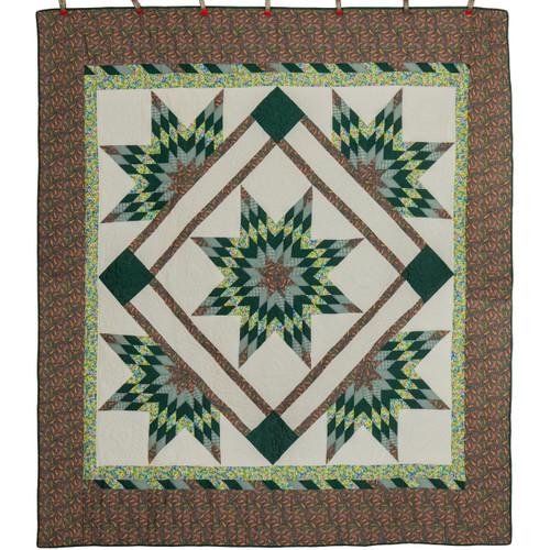 Bethlehem Star Rising Patchwork Amish Quilt 98x110