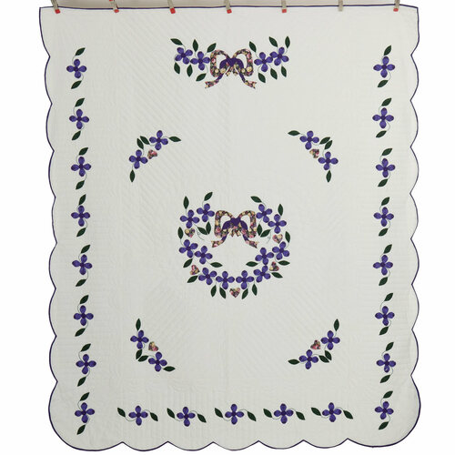 Dogwood Garden Applique Amish Quilt 91x108
