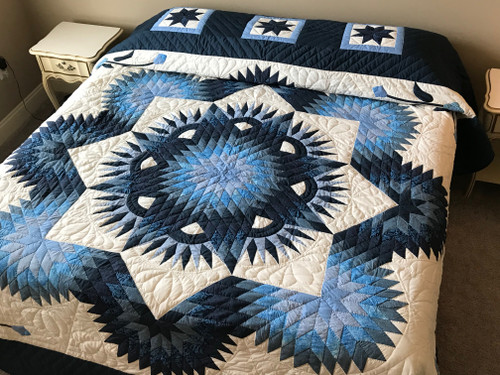 Shining Star Patchwork Amish Quilt 104x114
