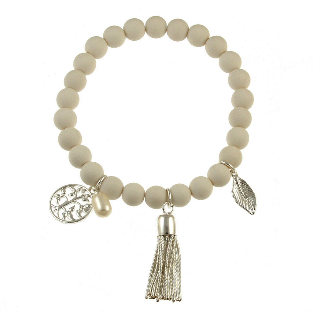 102-8 - Stretch Resin Egg Shell Bracelet