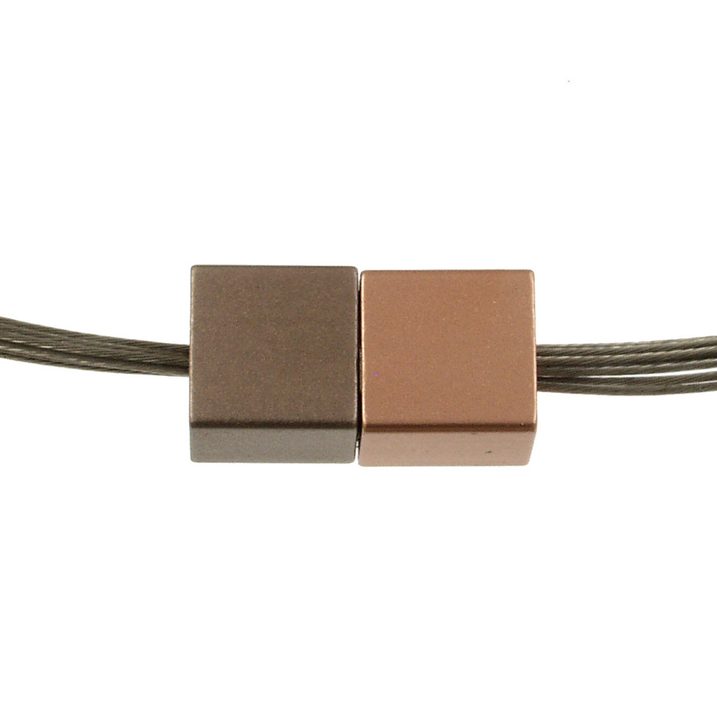 5117-63 - Magnetic Cube Pendant Matte Coffee Gold/Matte Rose Gold