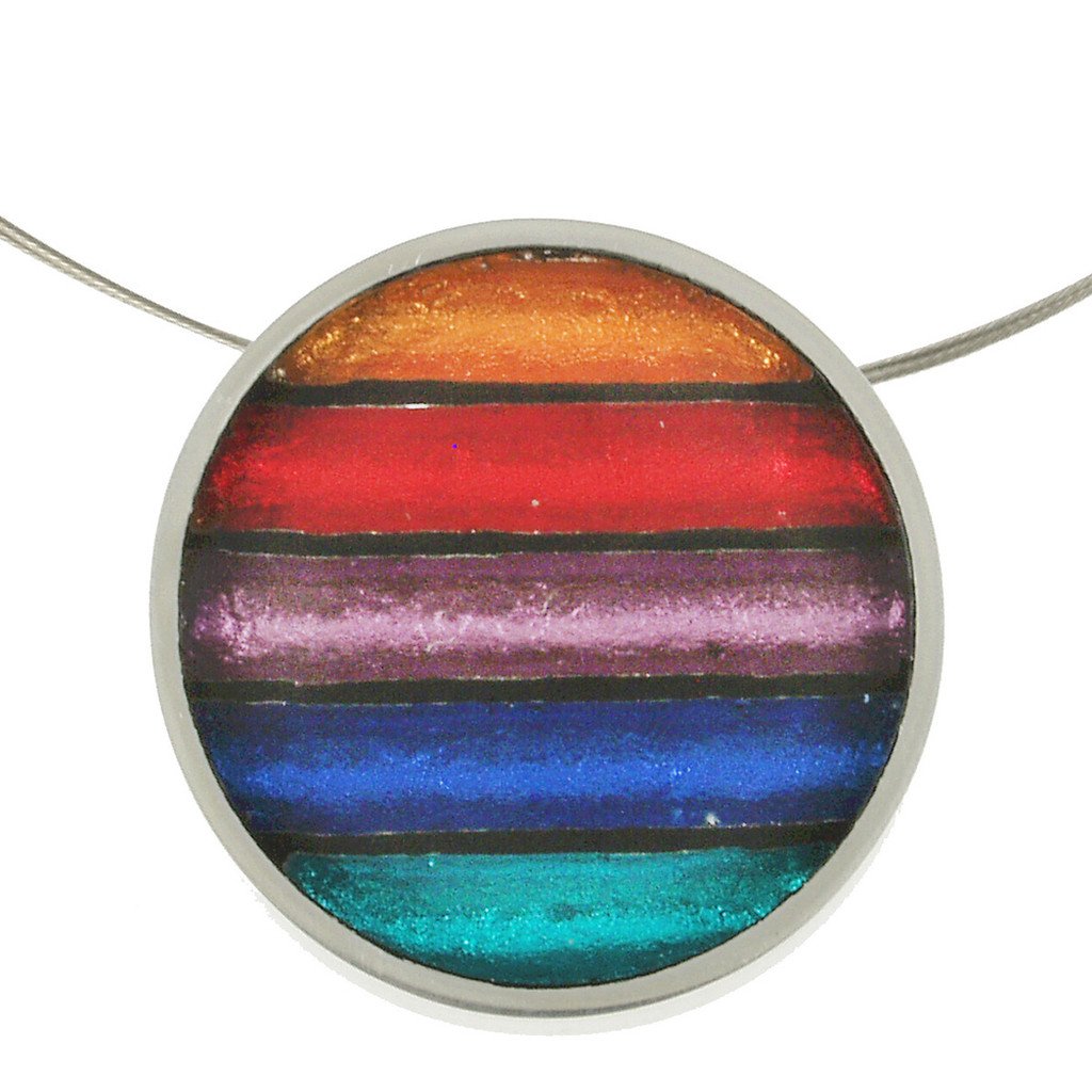 2161-4 - Gradient Pendant Rainbow