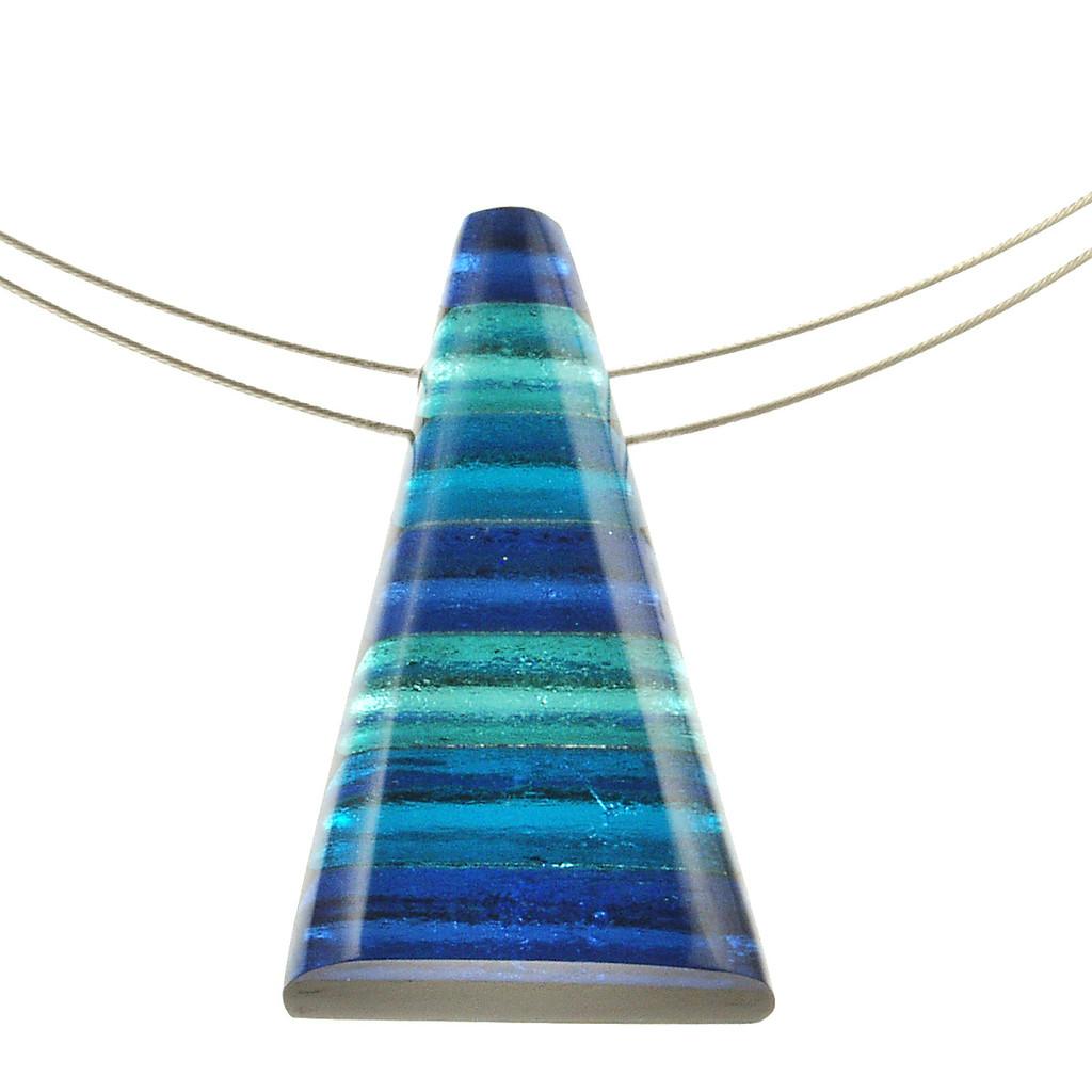 1733-22 - Pyramid Pendant Turquoise