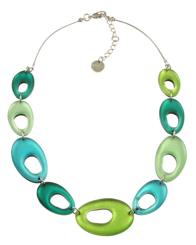 2216-3 - Hollow Nuggets Necklace Orchard Combi