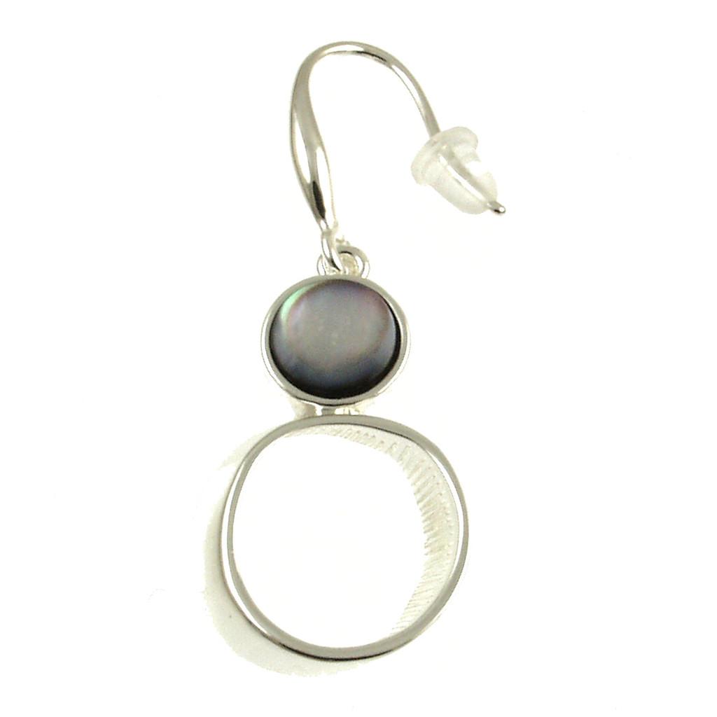 6019-1 - Black Shell Circle Earring