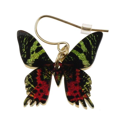 """4124-5 - Full Sunset Moth Earring 1""""W"""