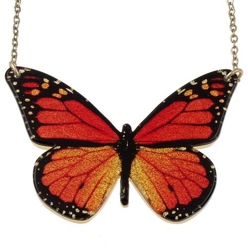 """4127-1 - Full 2"""" Monarch Butterfly Pendant"""