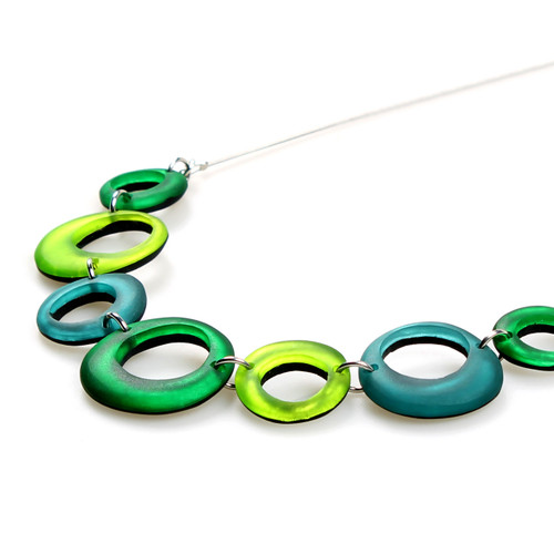 1723-3 - Hollow Circles Necklace - Orchard Combi