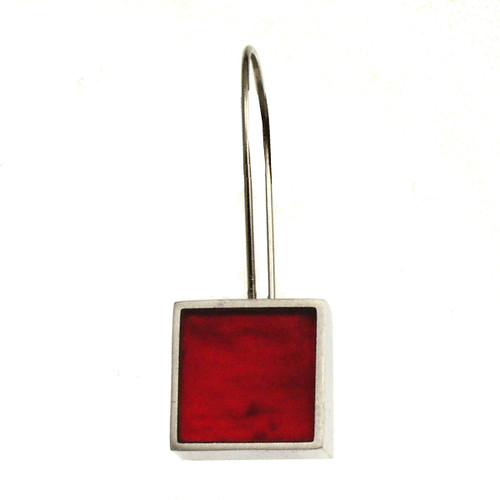 4519-13 - Square Earring Red