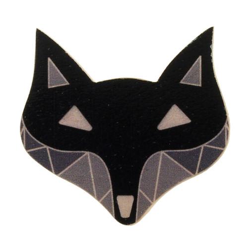 4024-3 - Black Fox Wood Brooch