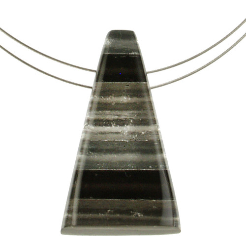 1733-9 - Pyramid Pendant Black