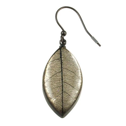 2929-7 - Mango Leaf Earring Baked