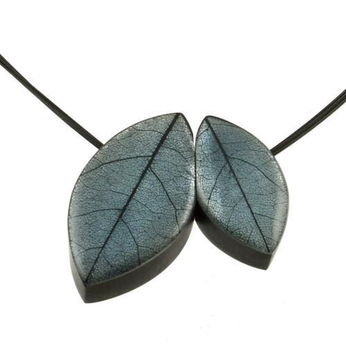 2930-2 - 2 Pce. Mango Leaf Pendant Cashmere