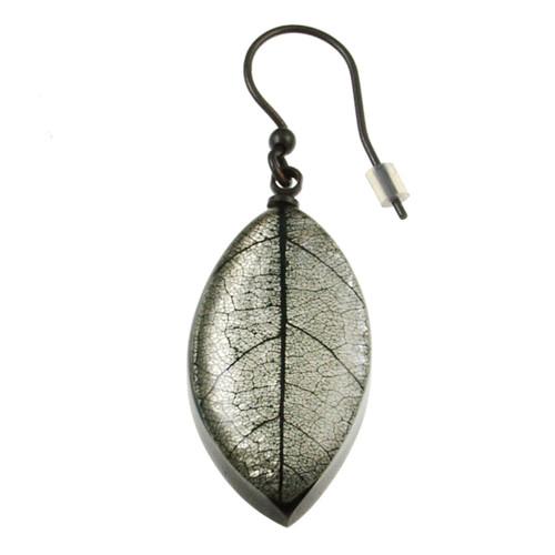 2929-8 - Mango Leaf Earring White
