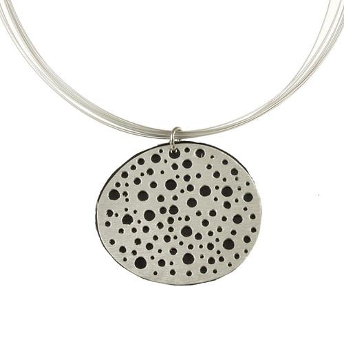 1779-26 - Reversible Mini Holes Pendant w/ Magnetic Lock Estate Blue