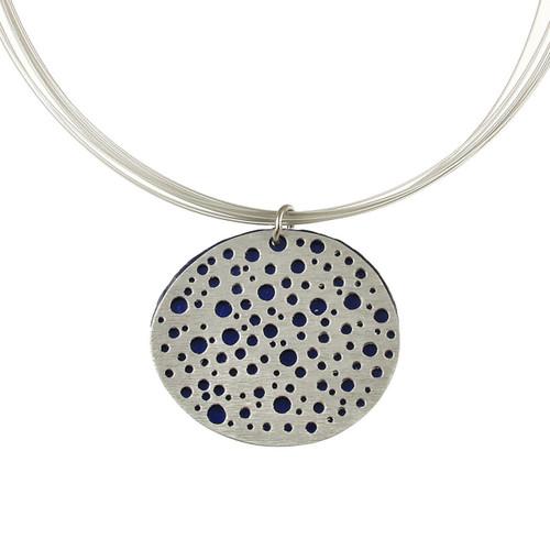 1779-29 - Reversible Mini Holes Pendant w/ Magnetic Lock Star Sapphire